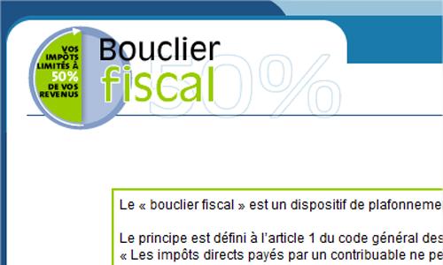 Le site officiel du bouclier fiscal