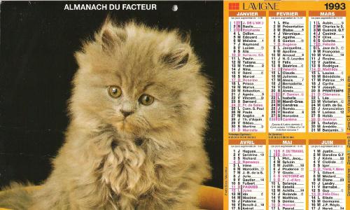 "Almanach ""chaton"""