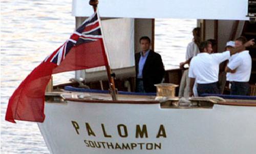 N. Sarkozy sur le yacht de Bolloré