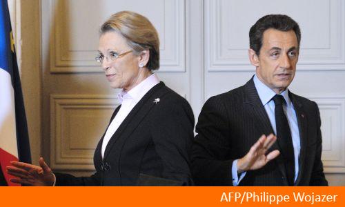 Michèle Alliot-Marie et Nicolas Sarkozy