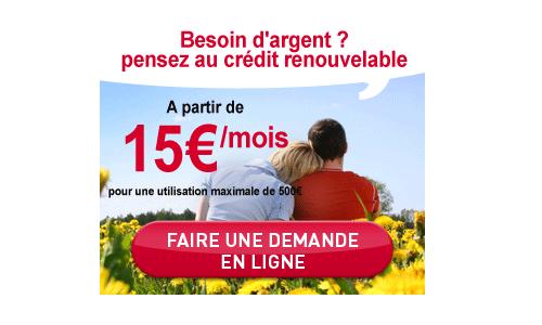 Crédit renouvelable ? Oui !