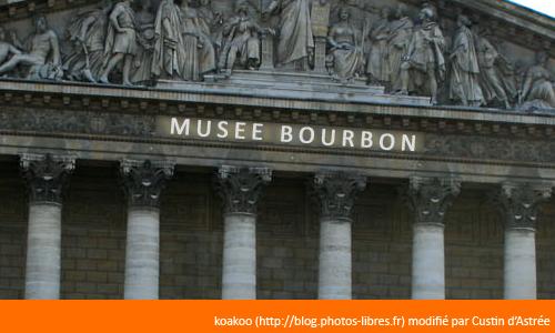 """Et l'Assemblée nationale devient le """"musée Bourbon"""""""