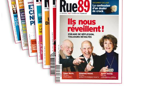 """Les unes de """"Rue 89, le mensuel"""""""