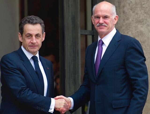 Sarkozy et Papandréou