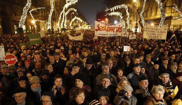 Manifestations en Hongrie